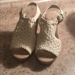 Maurice's White wedge Sandals